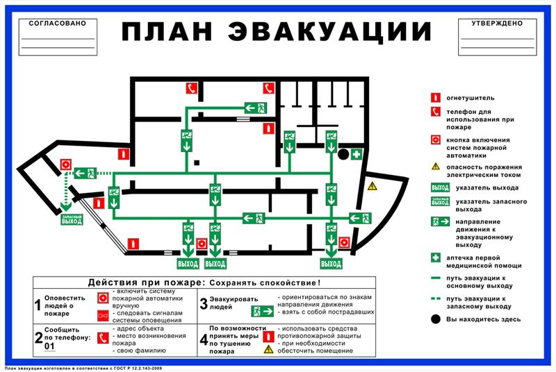 План эвакуации на заказ